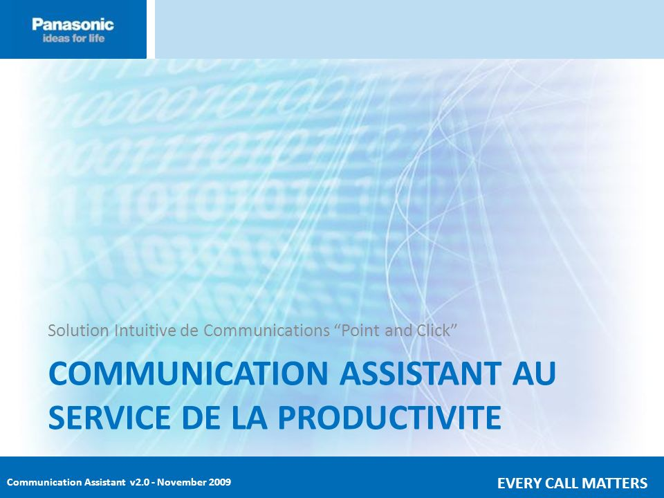 COMMUNICATION ASSISTANT AU SERVICE DE LA PRODUCTIVITE