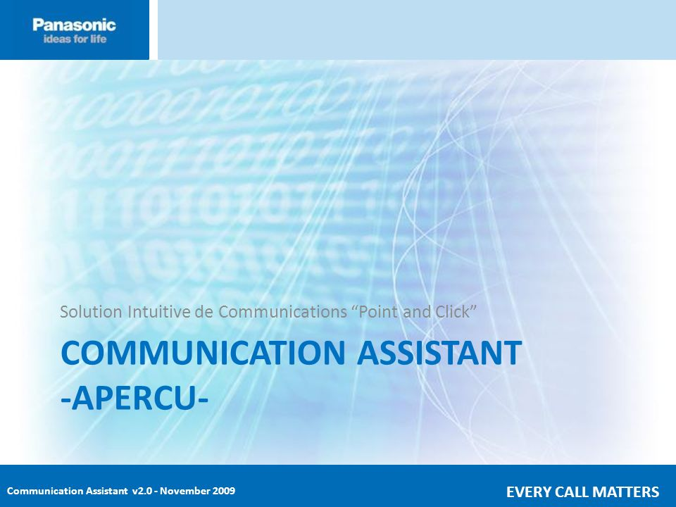 COMMUNICATION ASSISTANT -APERCU-