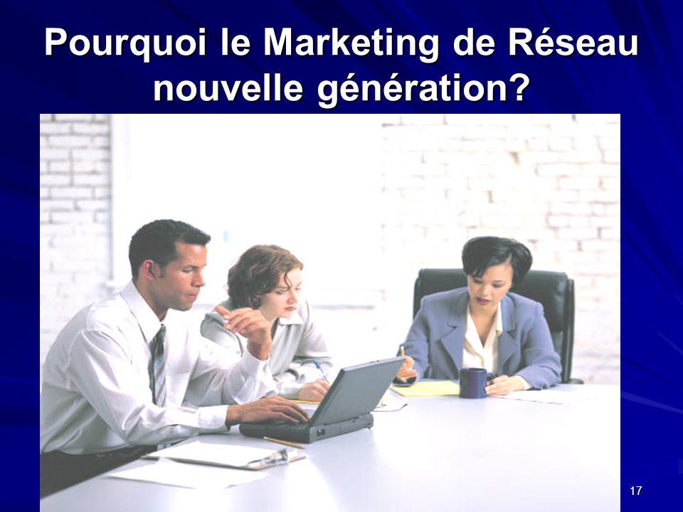 Pourquoi le Marketing de Réseau nouvelle génération