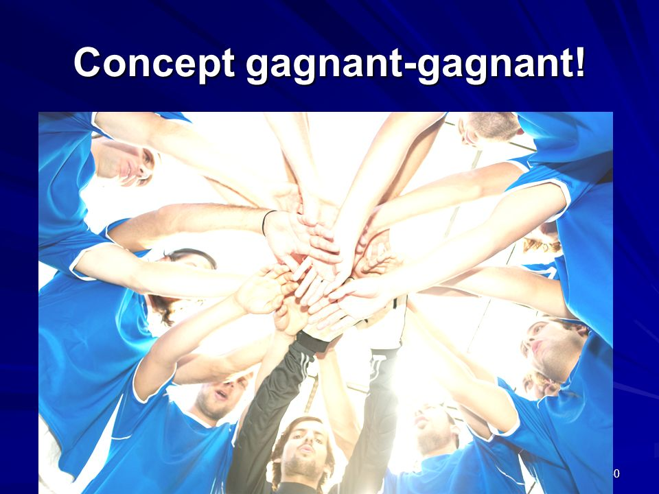 Concept gagnant-gagnant!