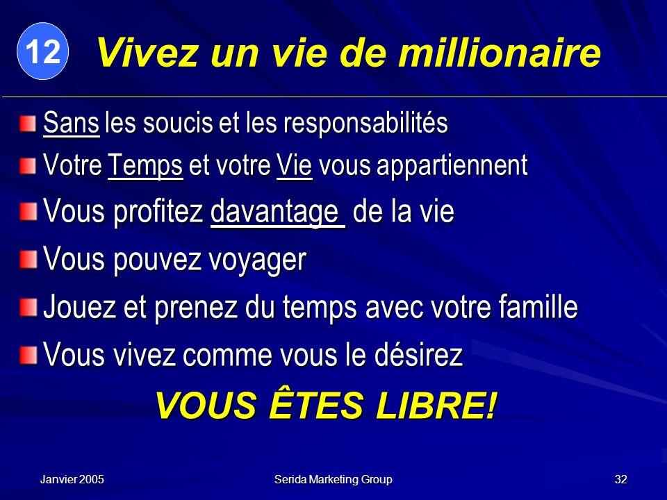 Vivez un vie de millionaire