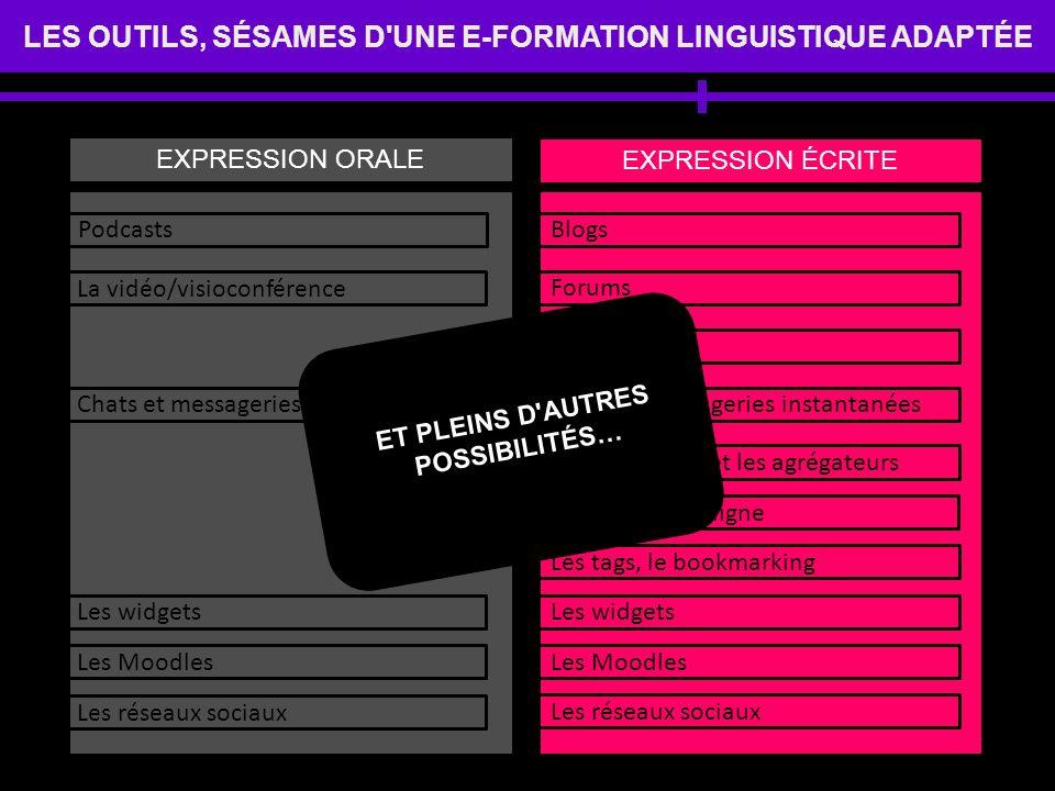 LES OUTILS, SÉSAMES D UNE E-FORMATION LINGUISTIQUE ADAPTÉE