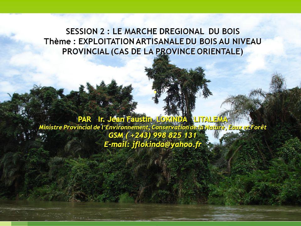 . Dominique Fauroux SESSION 2 : LE MARCHE DREGIONAL DU BOIS