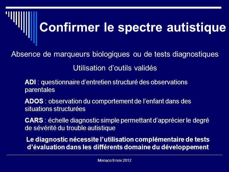 Confirmer le spectre autistique