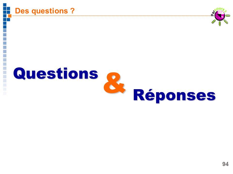 Des questions Questions & Réponses