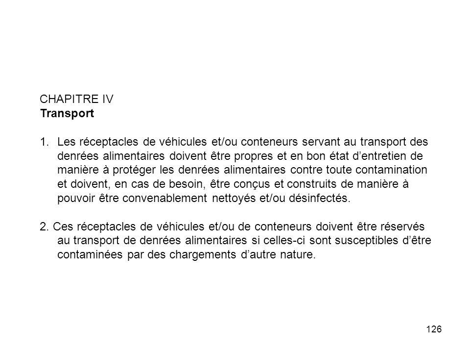 CHAPITRE IV Transport.