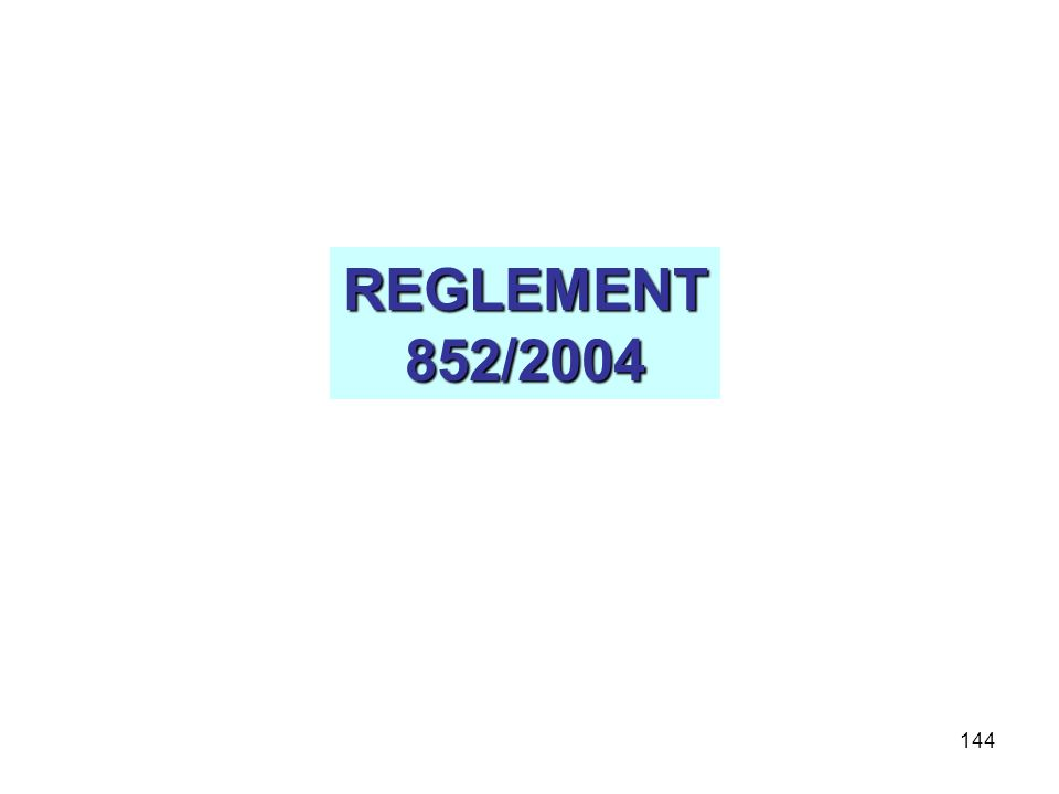 REGLEMENT 852/2004