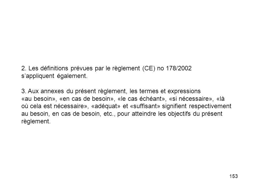 2. Les définitions prévues par le règlement (CE) no 178/2002