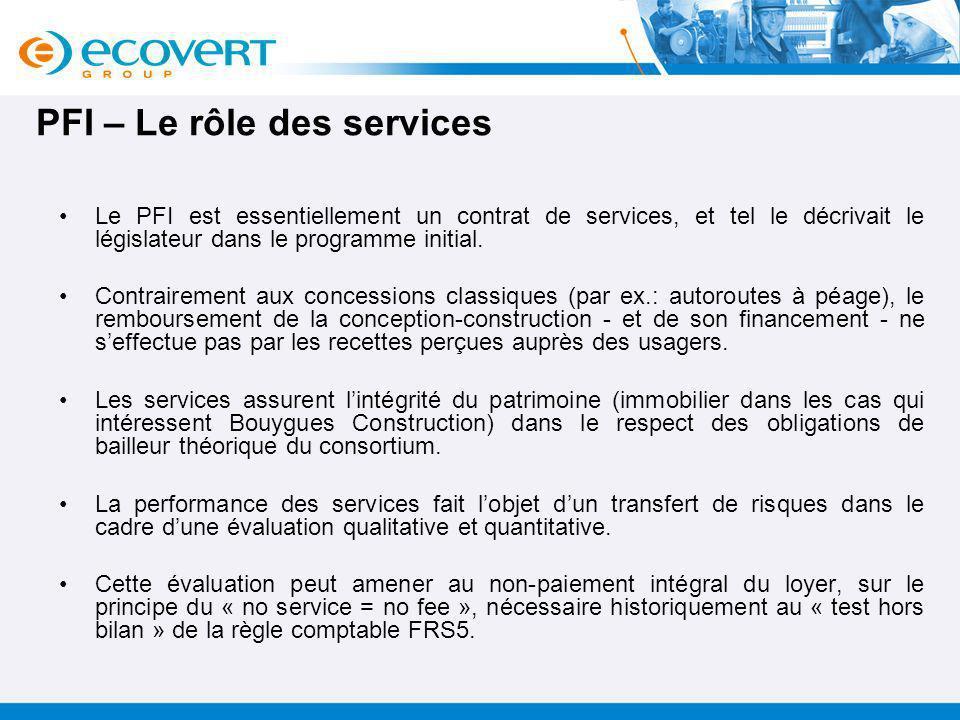 PFI – Le rôle des services