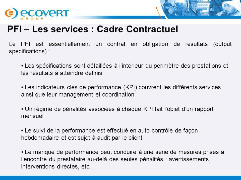 PFI – Les services : Cadre Contractuel