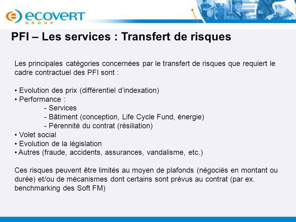 PFI – Les services : Transfert de risques