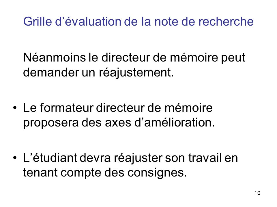 La r daction de la note de recherche ue 3 4 s6 ppt video - Grille d evaluation des competences infirmieres ...