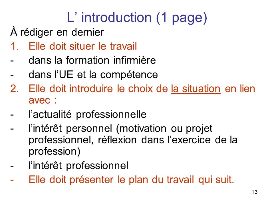 L' introduction (1 page)