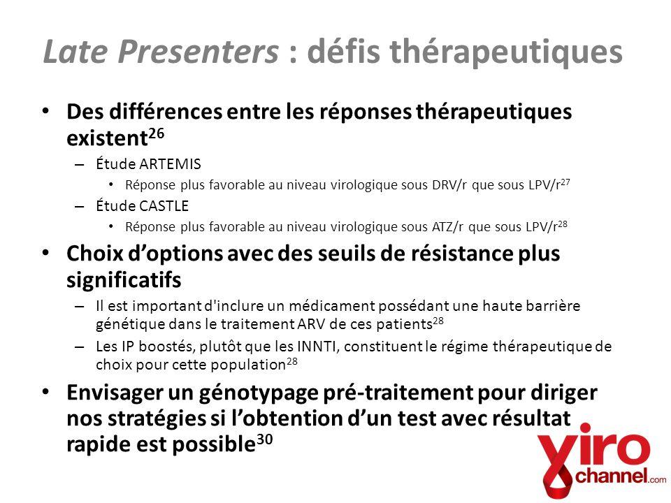 Late Presenters : défis thérapeutiques