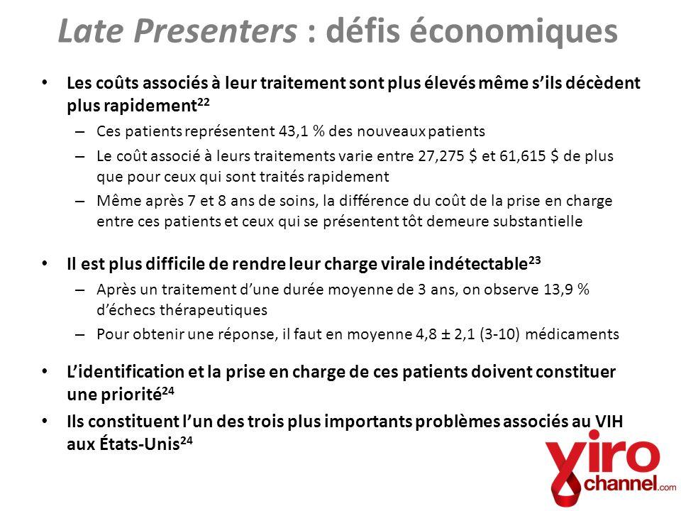 Late Presenters : défis économiques
