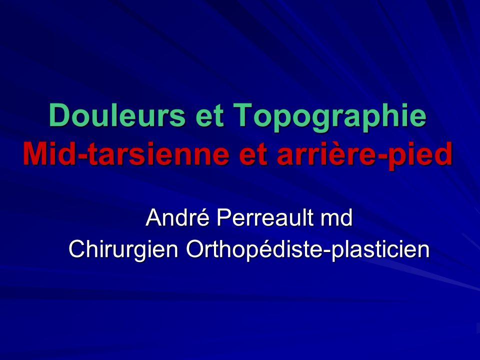Douleurs et Topographie Mid-tarsienne et arrière-pied