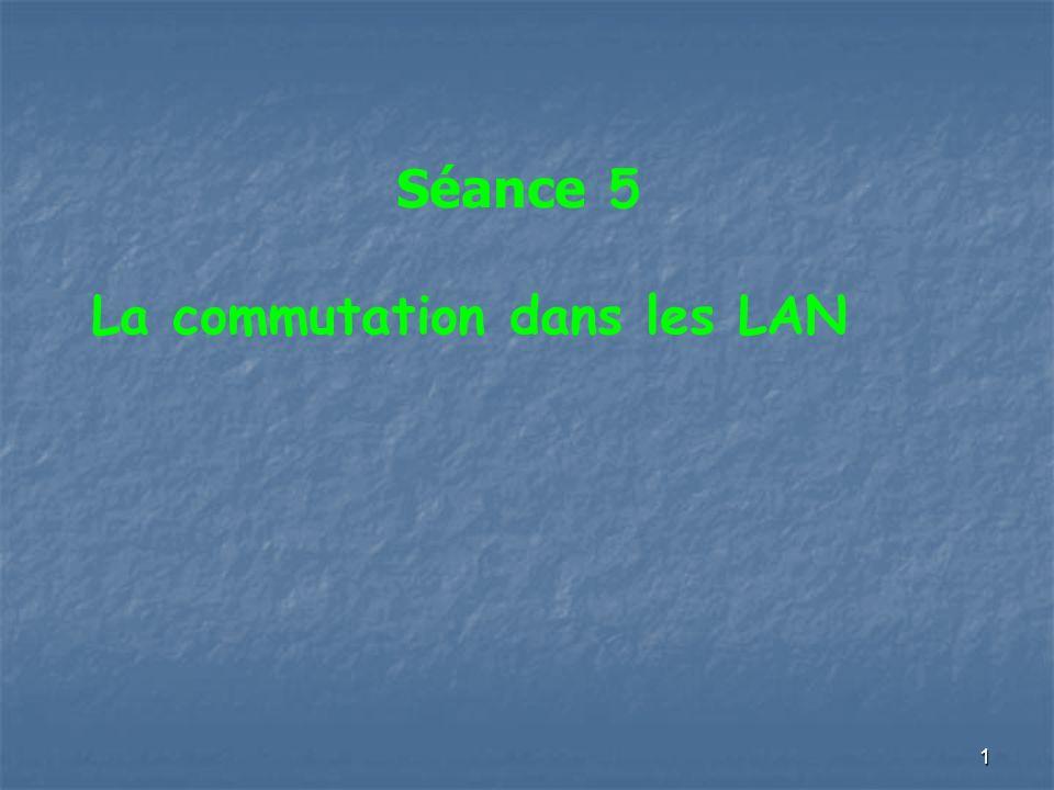 Séance 5 La commutation dans les LAN