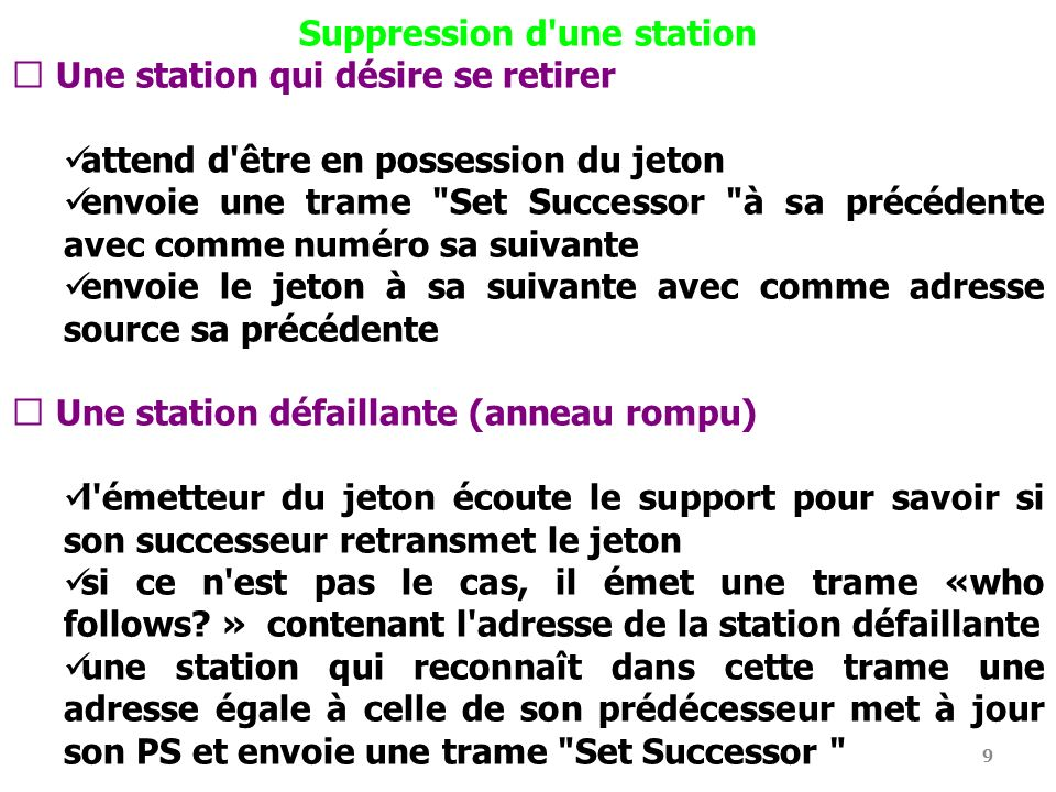 Suppression d une station