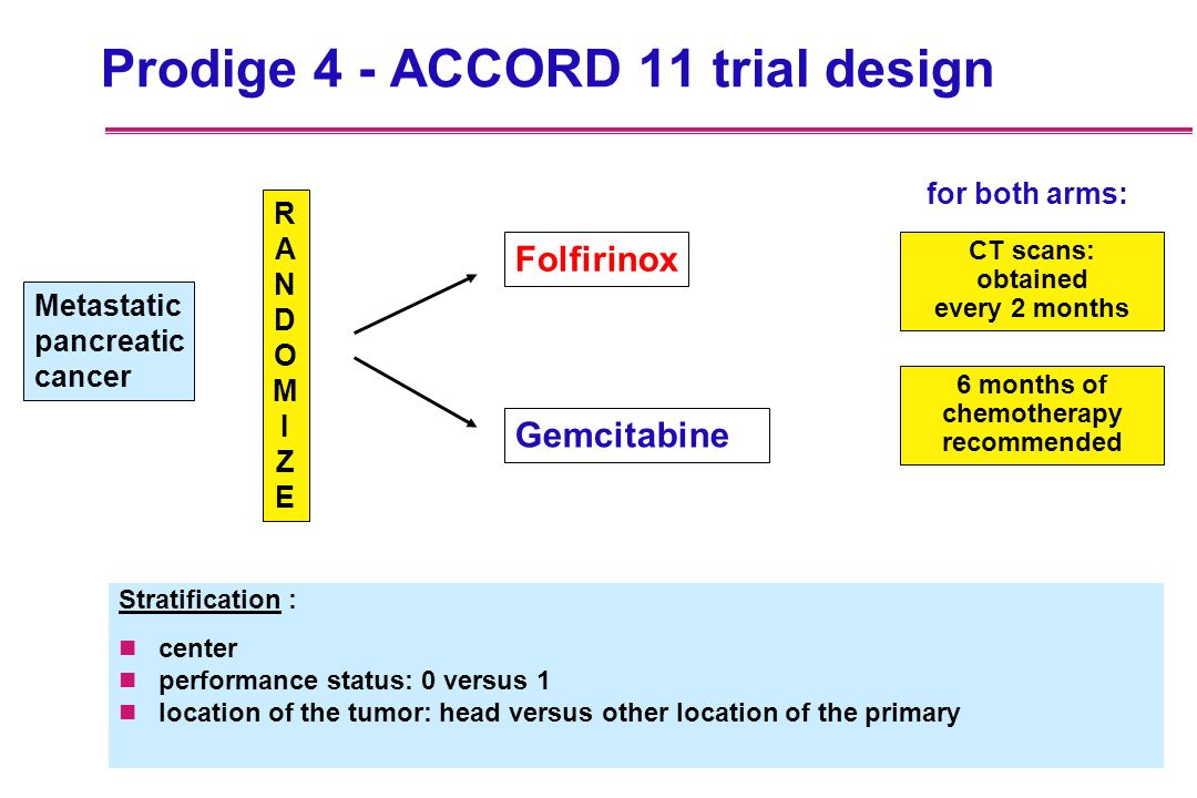 Prodige 4 - ACCORD 11 trial design