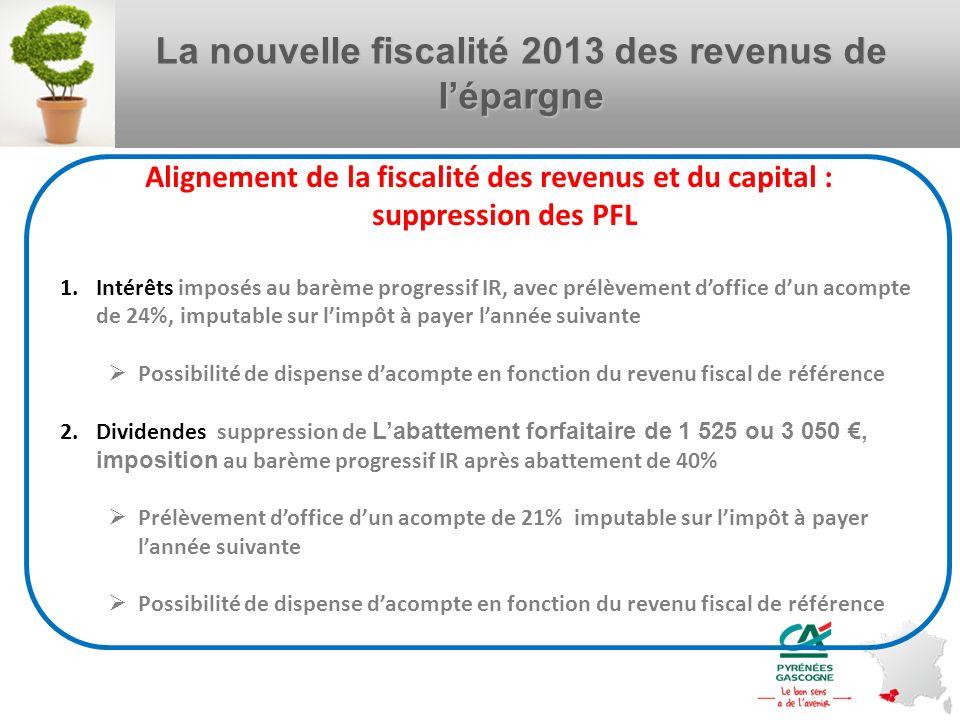 La nouvelle fiscalité 2013 des revenus de l'épargne