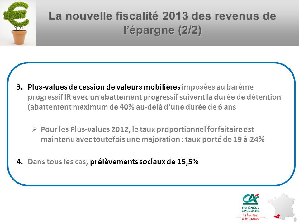 La nouvelle fiscalité 2013 des revenus de l'épargne (2/2)