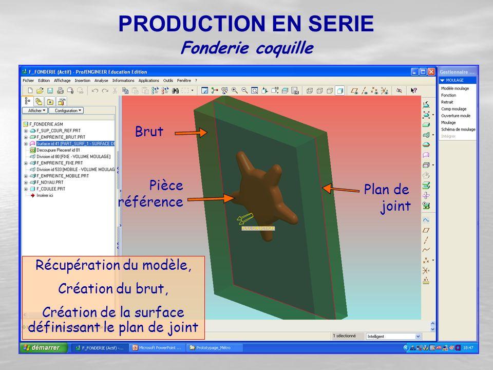 PRODUCTION EN SERIE Fonderie coquille Brut Pièce référence