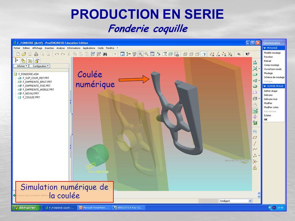 Simulation numérique de la coulée