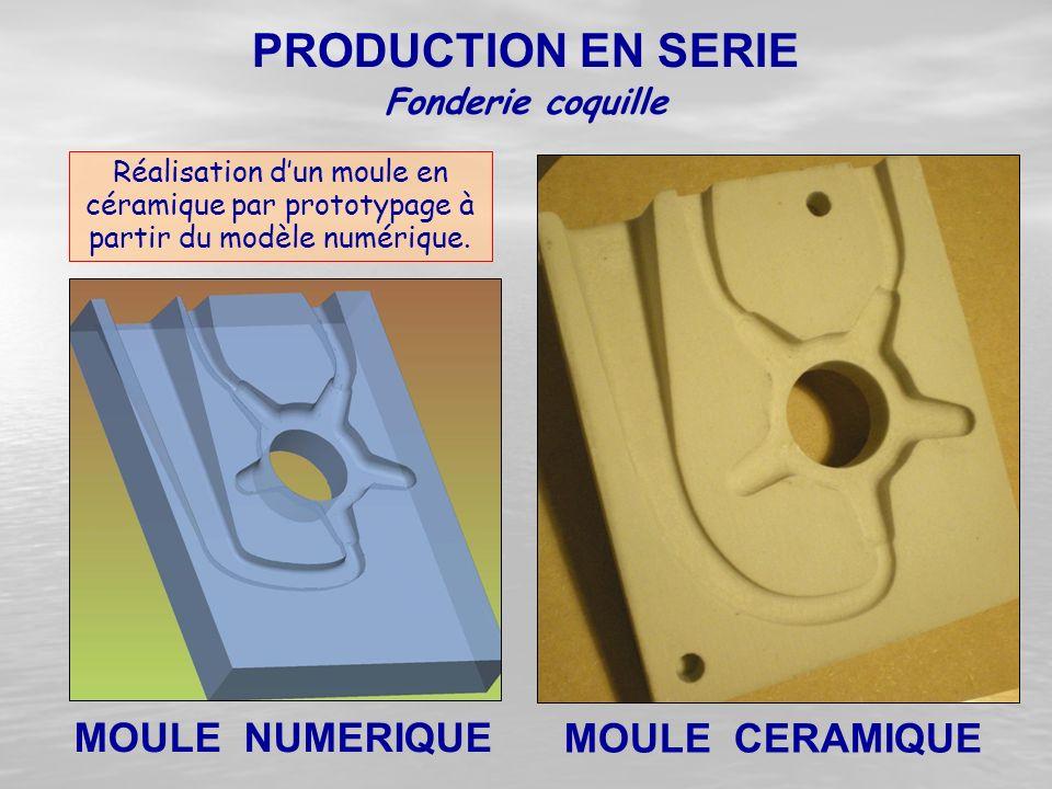 PRODUCTION EN SERIE MOULE NUMERIQUE MOULE CERAMIQUE Fonderie coquille