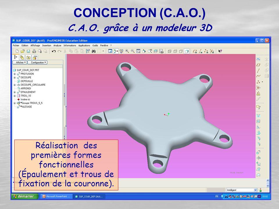 C.A.O. grâce à un modeleur 3D