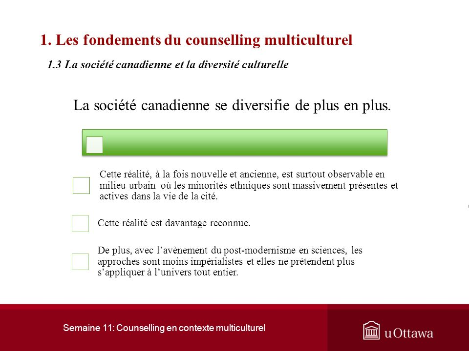 1. Les fondements du counselling multiculturel