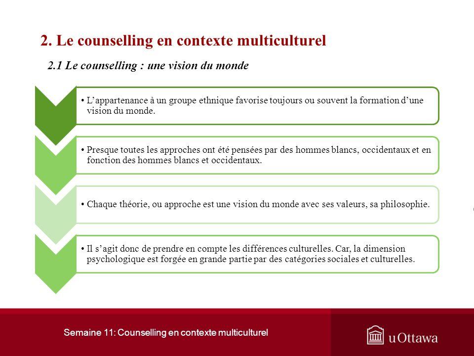 2. Le counselling en contexte multiculturel