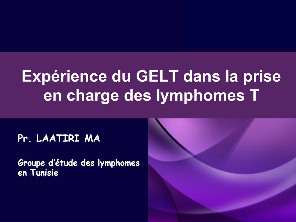 Expérience du GELT dans la prise en charge des lymphomes T