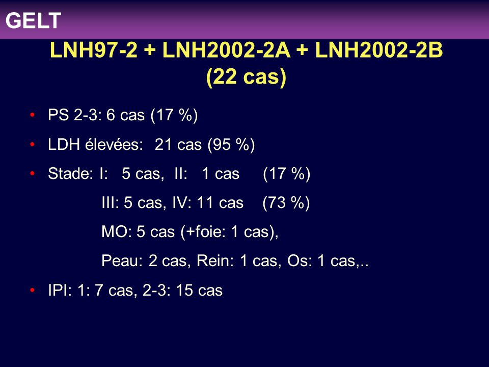 LNH97-2 + LNH2002-2A + LNH2002-2B (22 cas)