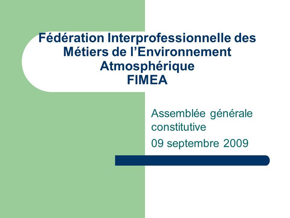 Assemblée générale constitutive 09 septembre 2009