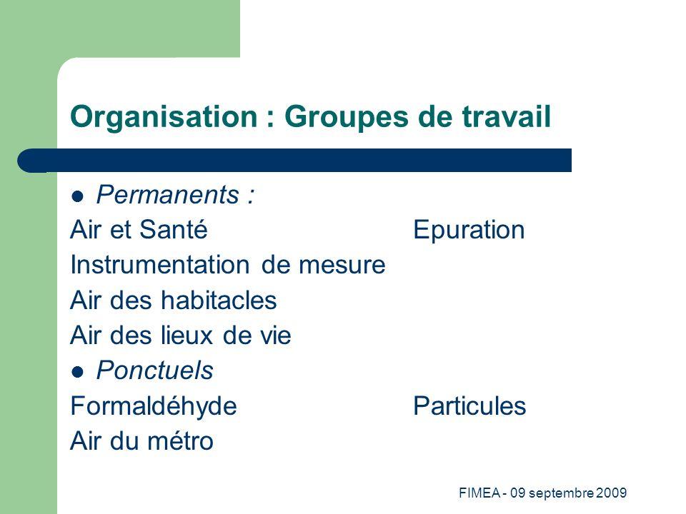 Organisation : Groupes de travail