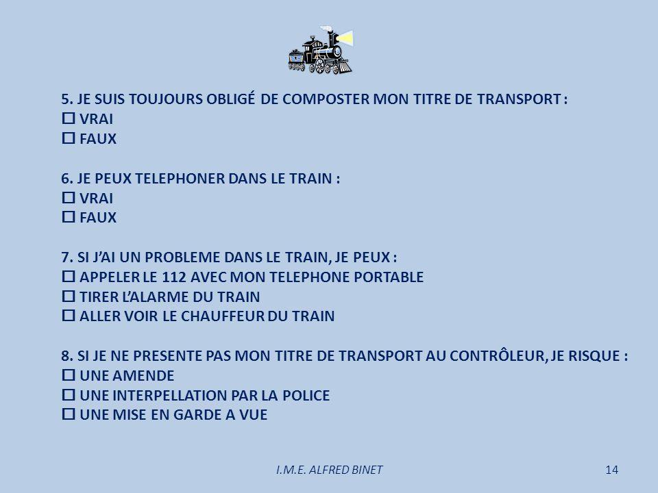 5. JE SUIS TOUJOURS OBLIGÉ DE COMPOSTER MON TITRE DE TRANSPORT :