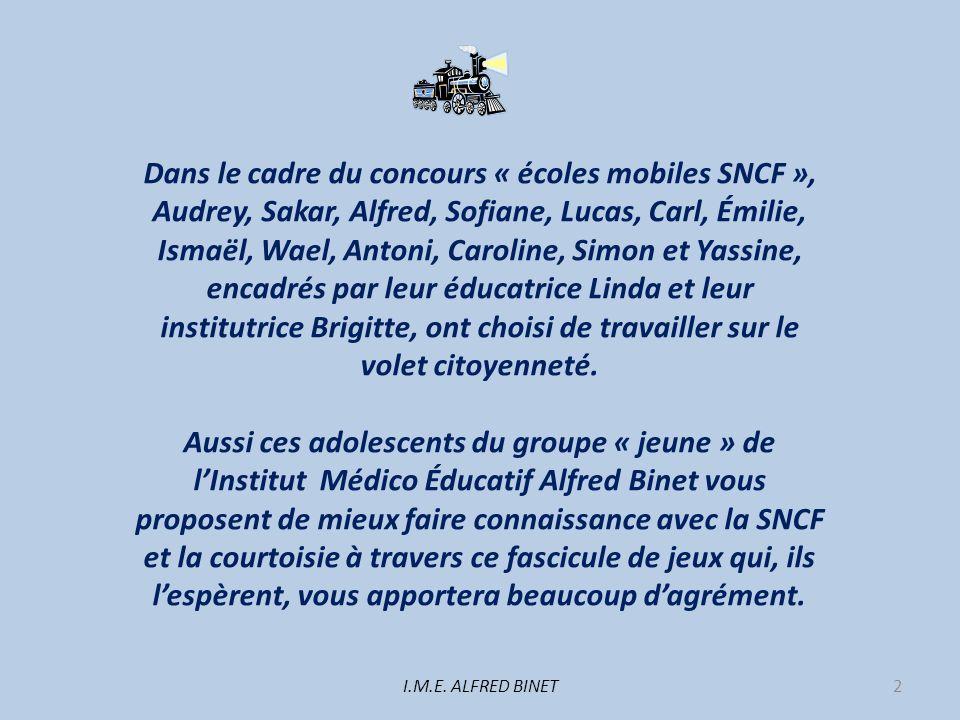 Dans le cadre du concours « écoles mobiles SNCF »,
