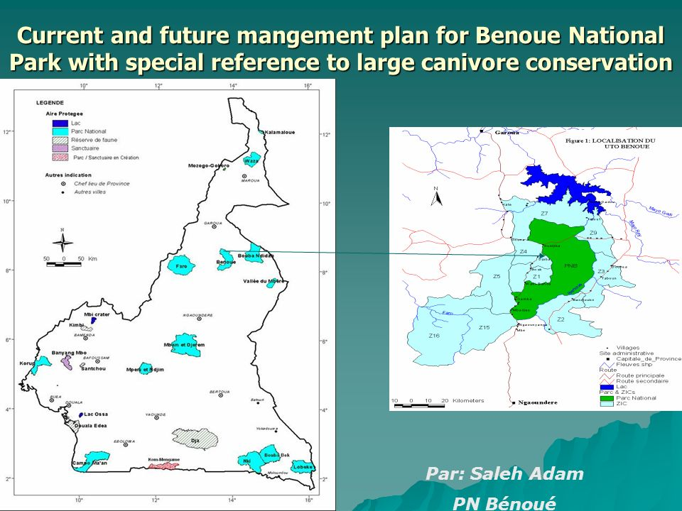 Current and future mangement plan for Benoue National Park with special reference to large canivore conservation