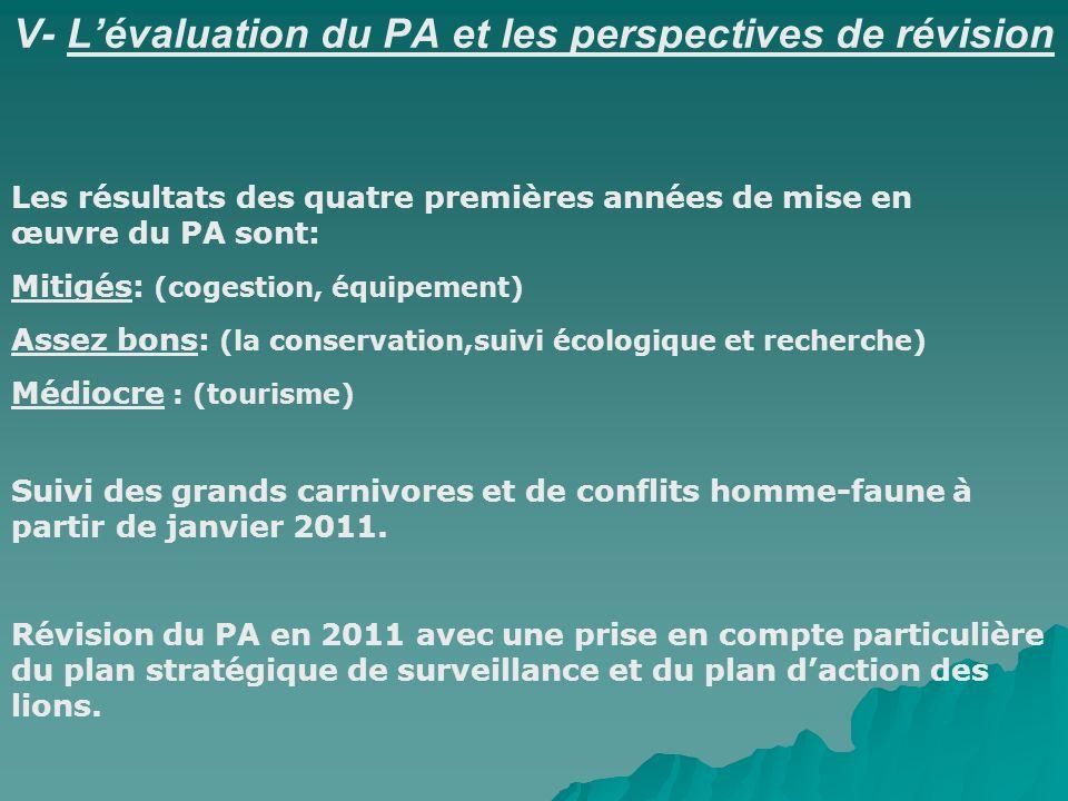 V- L'évaluation du PA et les perspectives de révision