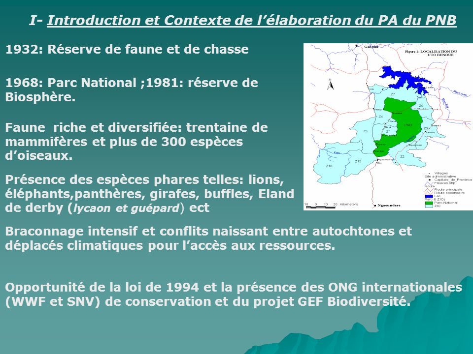 I- Introduction et Contexte de l'élaboration du PA du PNB
