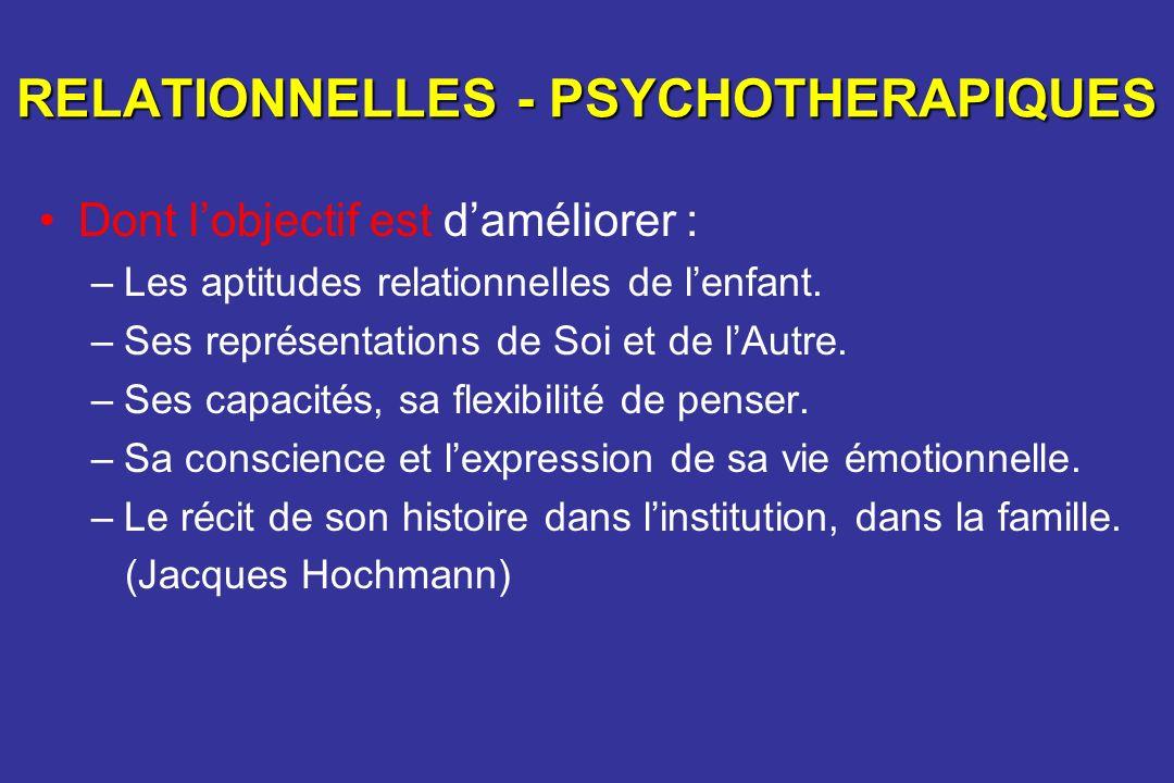 RELATIONNELLES - PSYCHOTHERAPIQUES