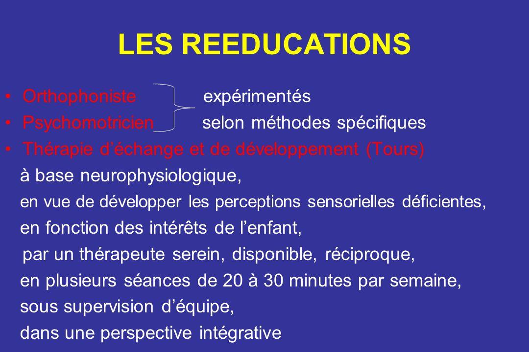 LES REEDUCATIONS Orthophoniste expérimentés