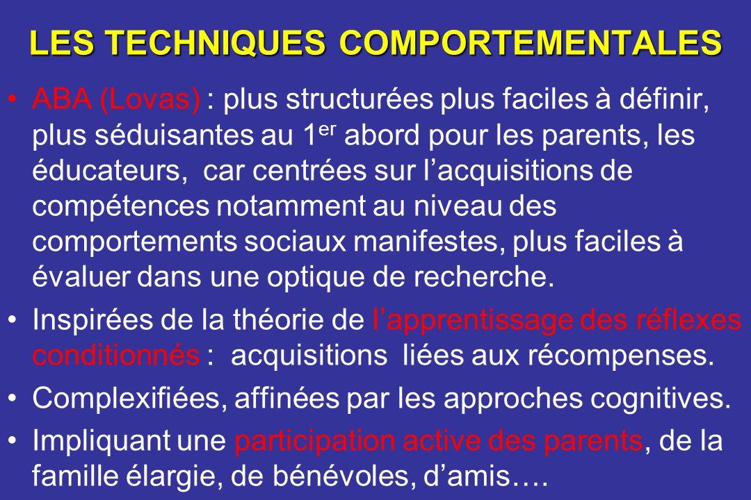 LES TECHNIQUES COMPORTEMENTALES