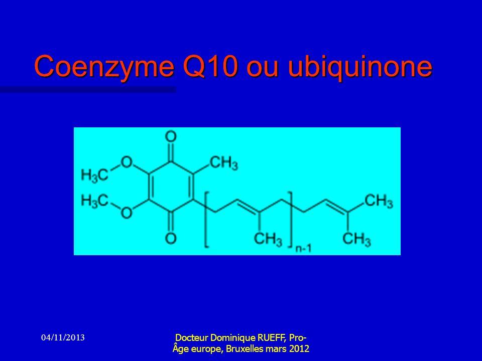 Coenzyme Q10 ou ubiquinone