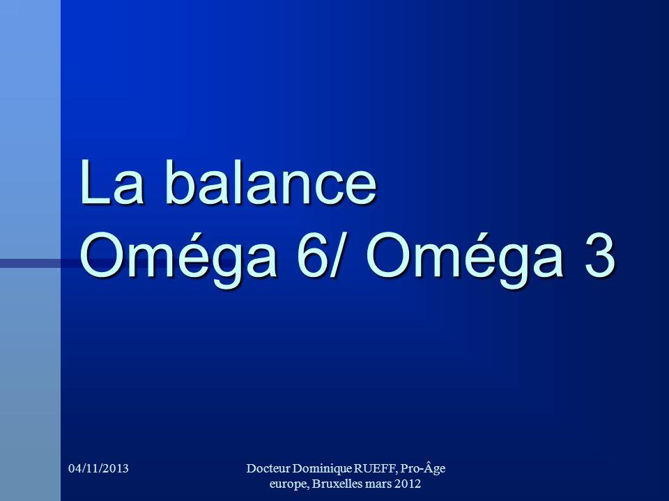 La balance Oméga 6/ Oméga 3