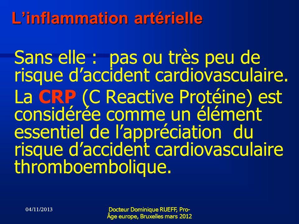 L'inflammation artérielle