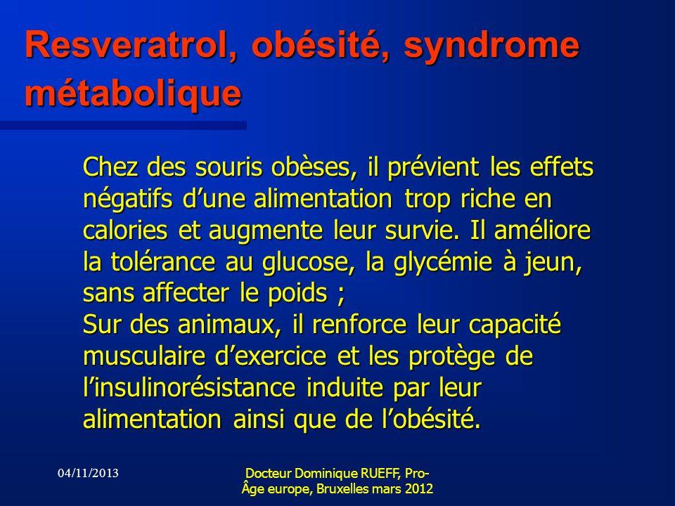 Resveratrol, obésité, syndrome métabolique