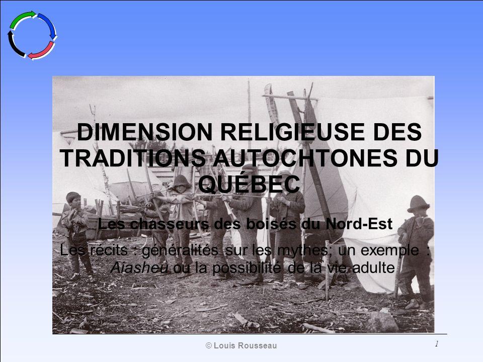 DIMENSION RELIGIEUSE DES TRADITIONS AUTOCHTONES DU QUÉBEC