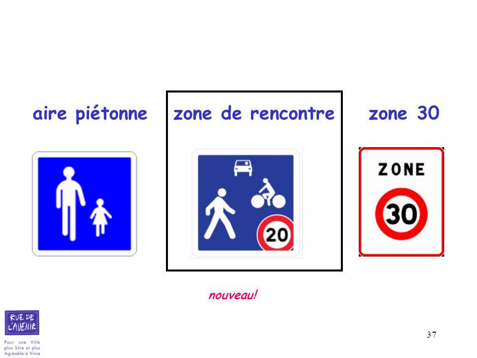 aire piétonne zone de rencontre zone 30