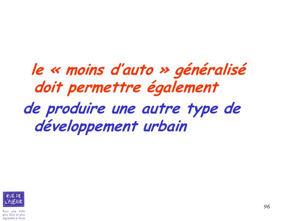 de produire une autre type de développement urbain